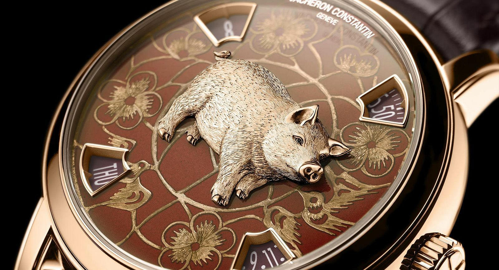 Pig watch by Vacheron Constantin for the Chinese year 2019