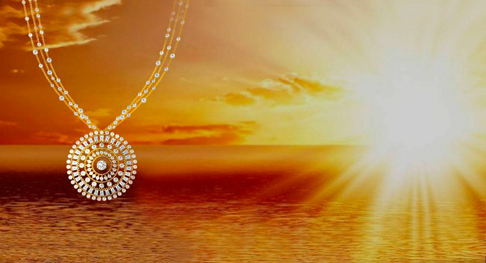 Luxury by Harakh: One of a kind necklace, 'The Sunlight' sold at Sotheby's auction