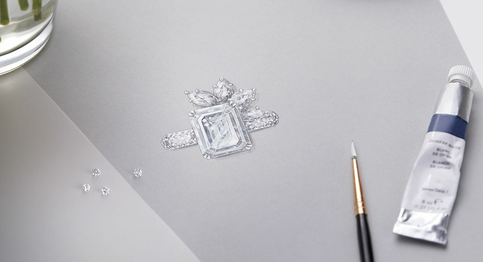 Harry Winston Bridal Couture diamond engagement ring