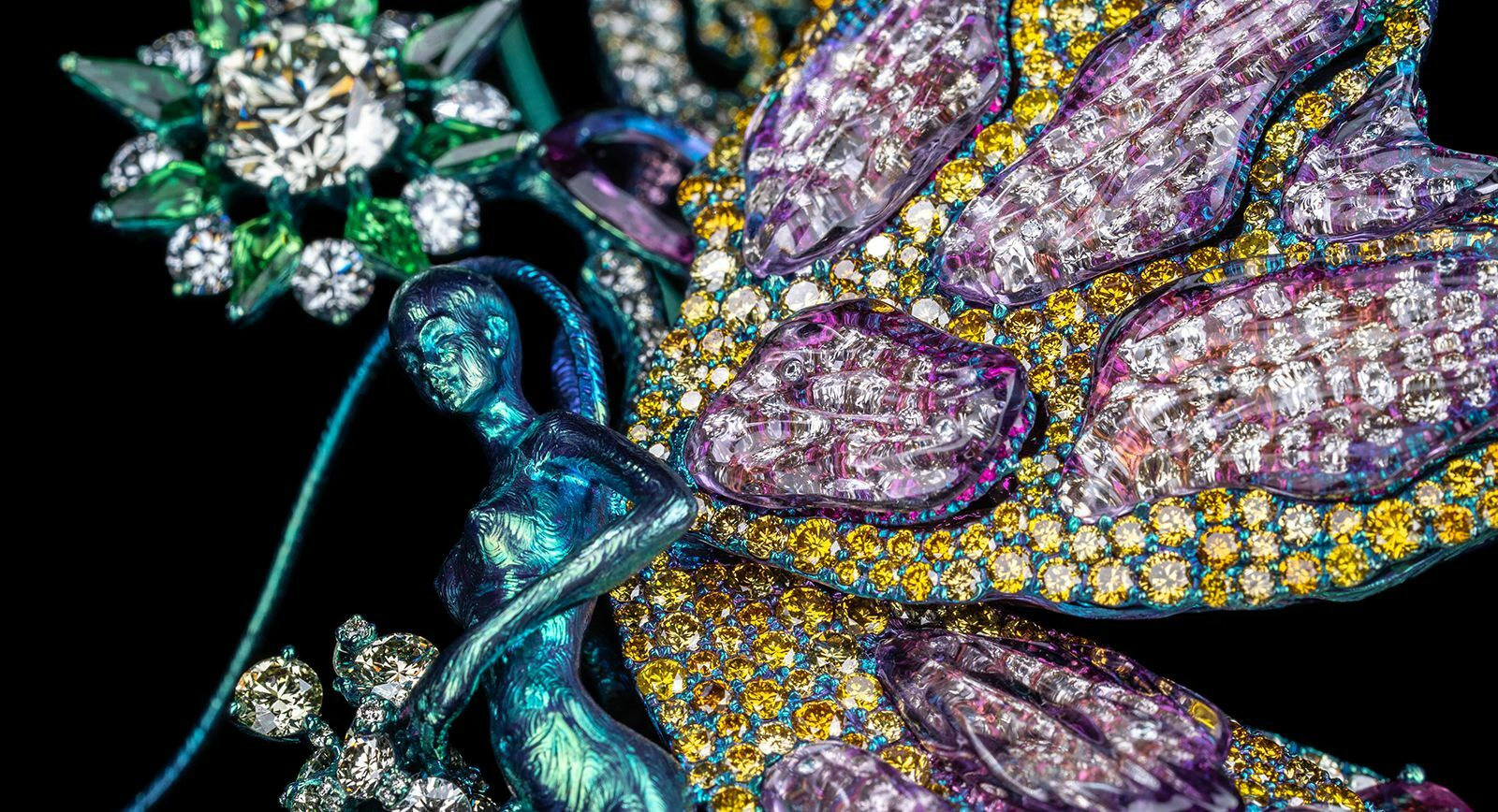 Wallace Chan  jewellery Hera parure for TEFAF 2019