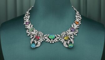 S1x1 gucci hortus deliciarum necklace opal