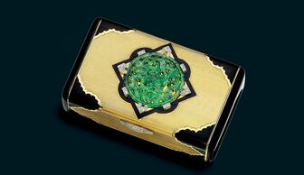 S1x1 a vanity affair art deco jade enamel and diamond cigarette cases by cartier 1929