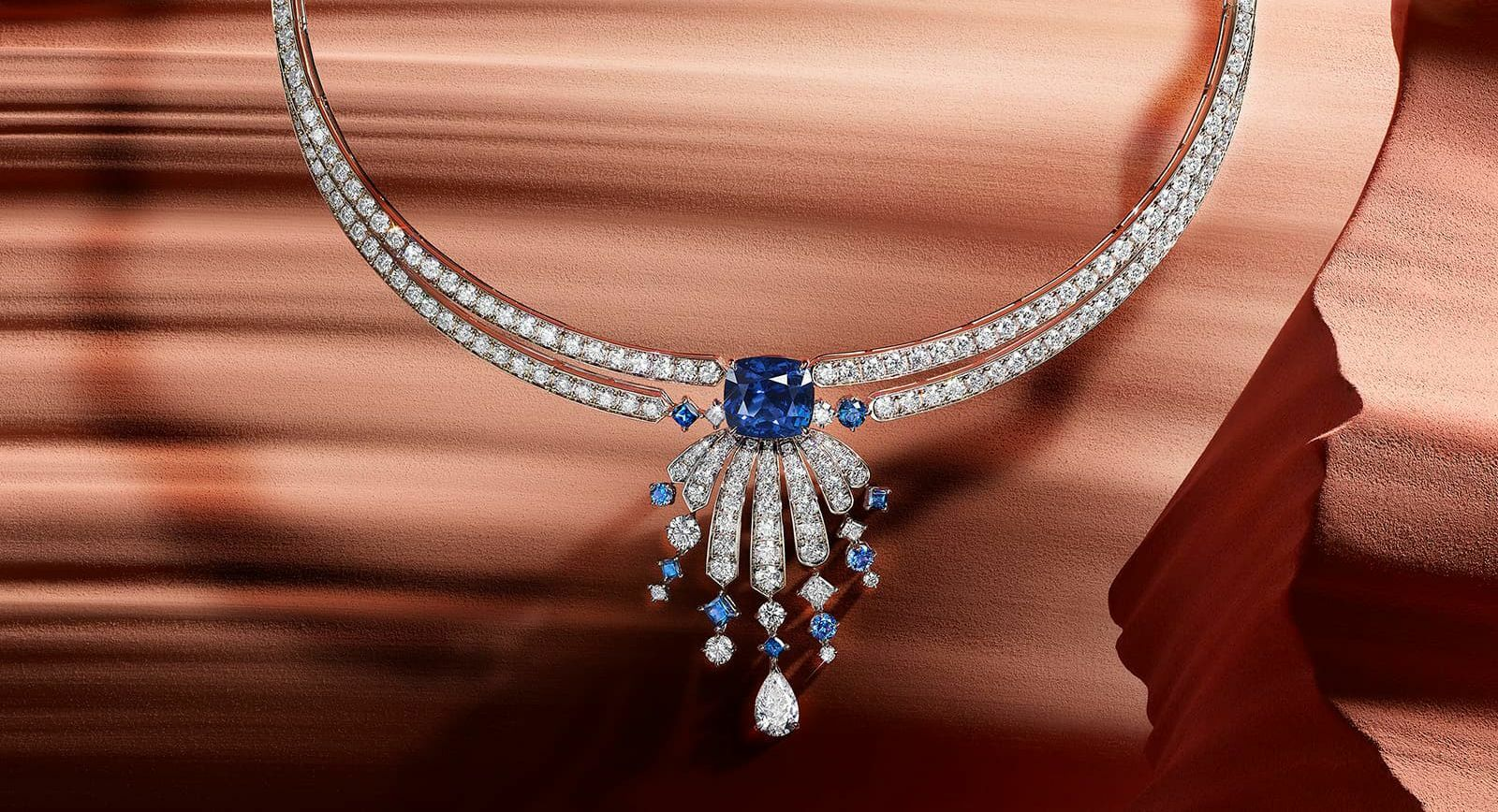 Piaget sapphire and diamond necklace