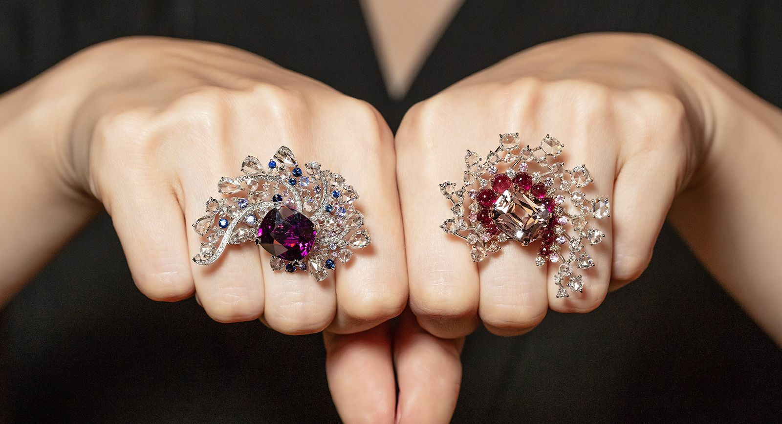 Novel Fine Jewelry cocktail rings