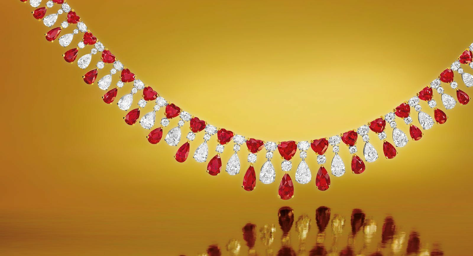Faidee ruby and diamond necklace
