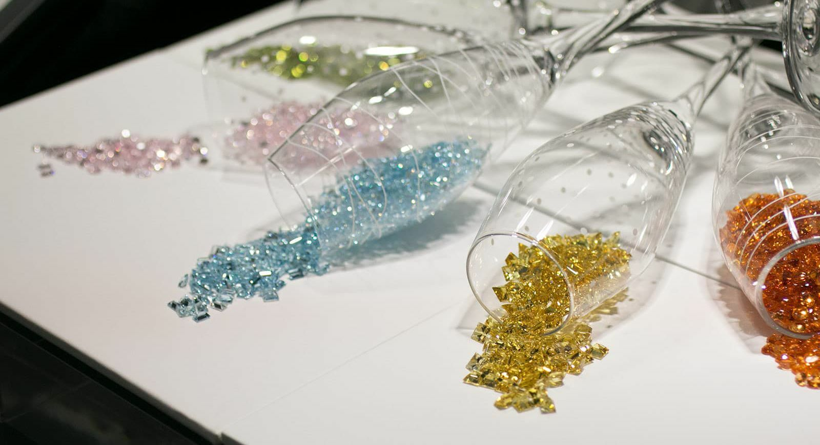 Gemstones at Inhorgenta 2020 exhibition in Munich