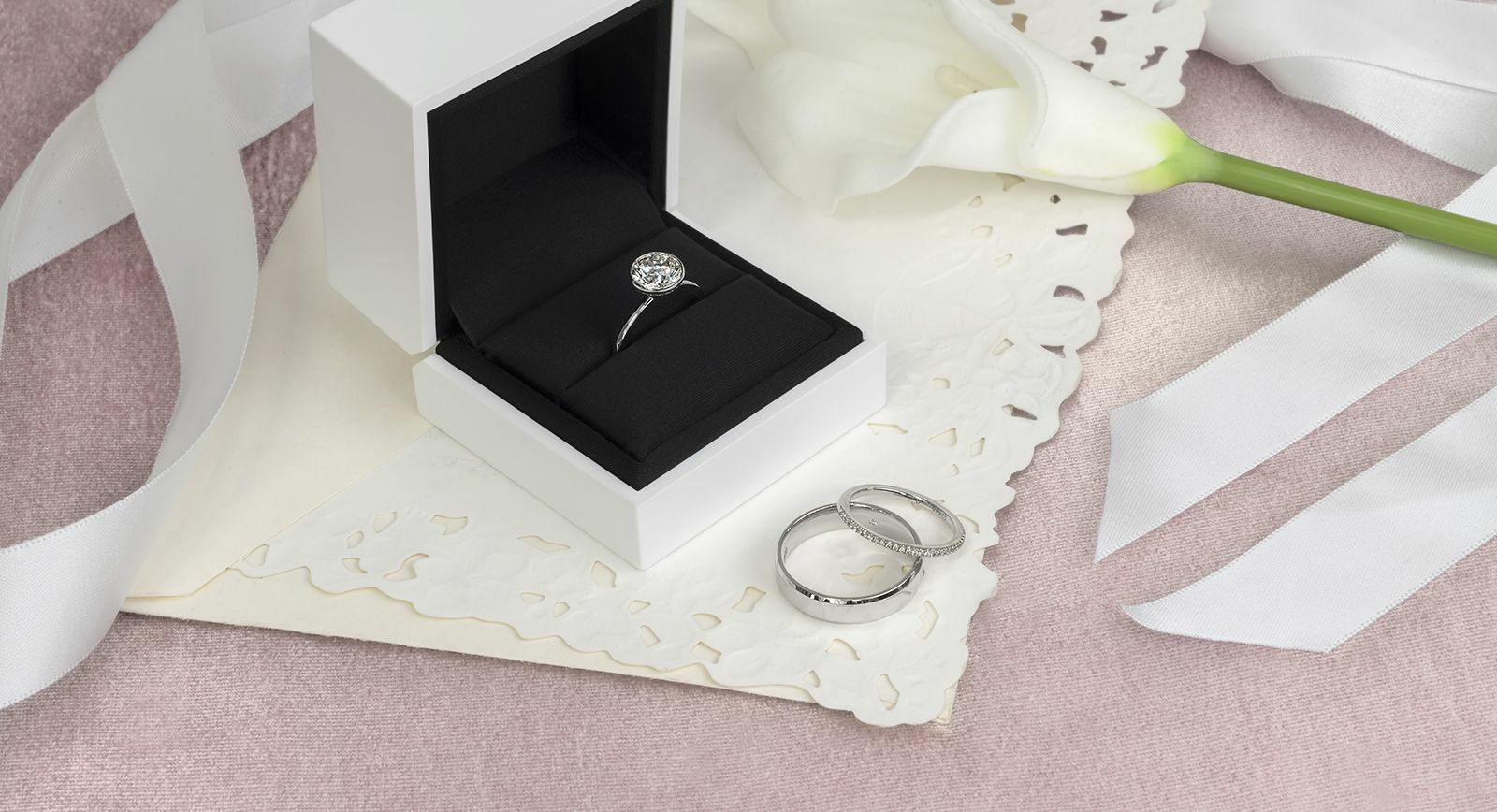 Forevermark x Micaela diamond engagement ring