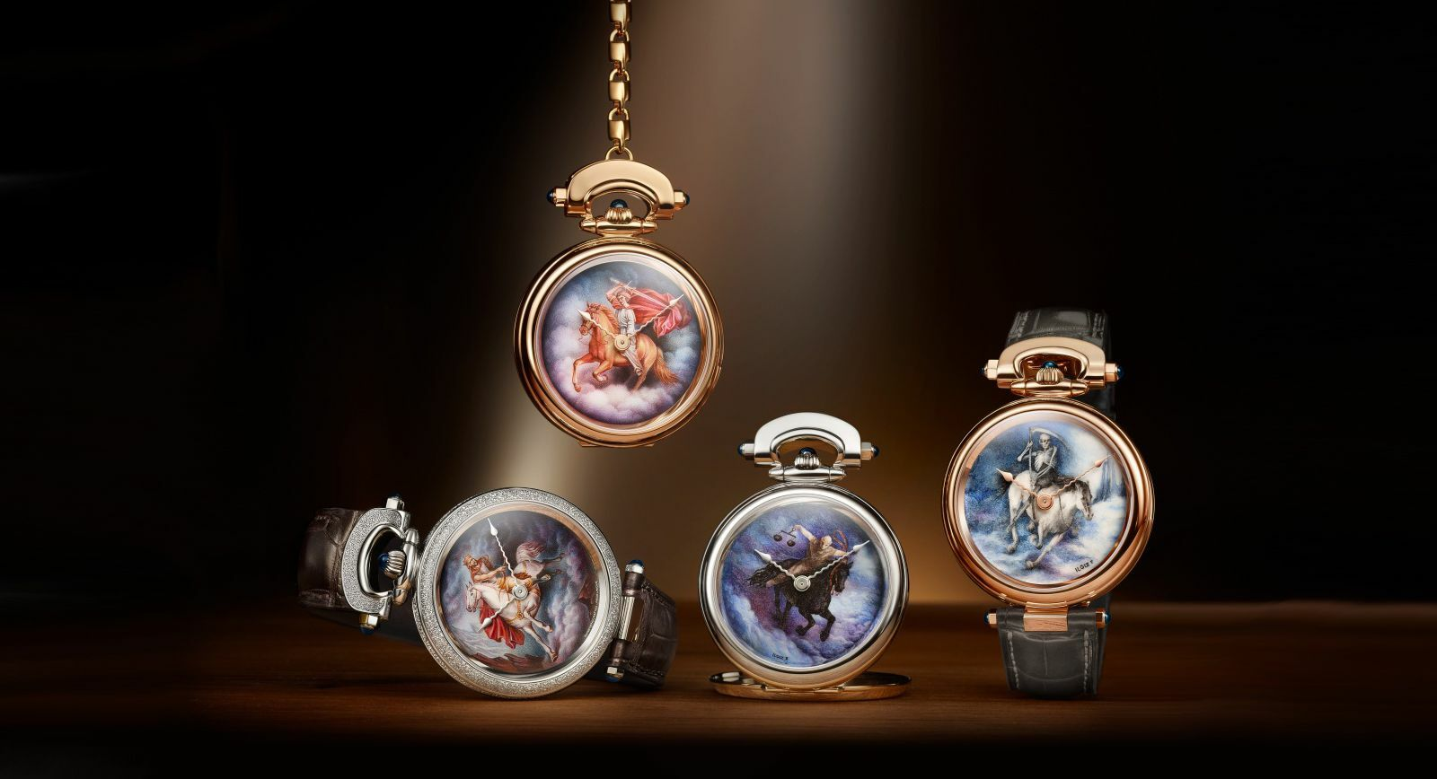 Jewellery designer Ilgiz F. and watchmakers Bovet 1822 come together to create a series of unique painted enamel watches