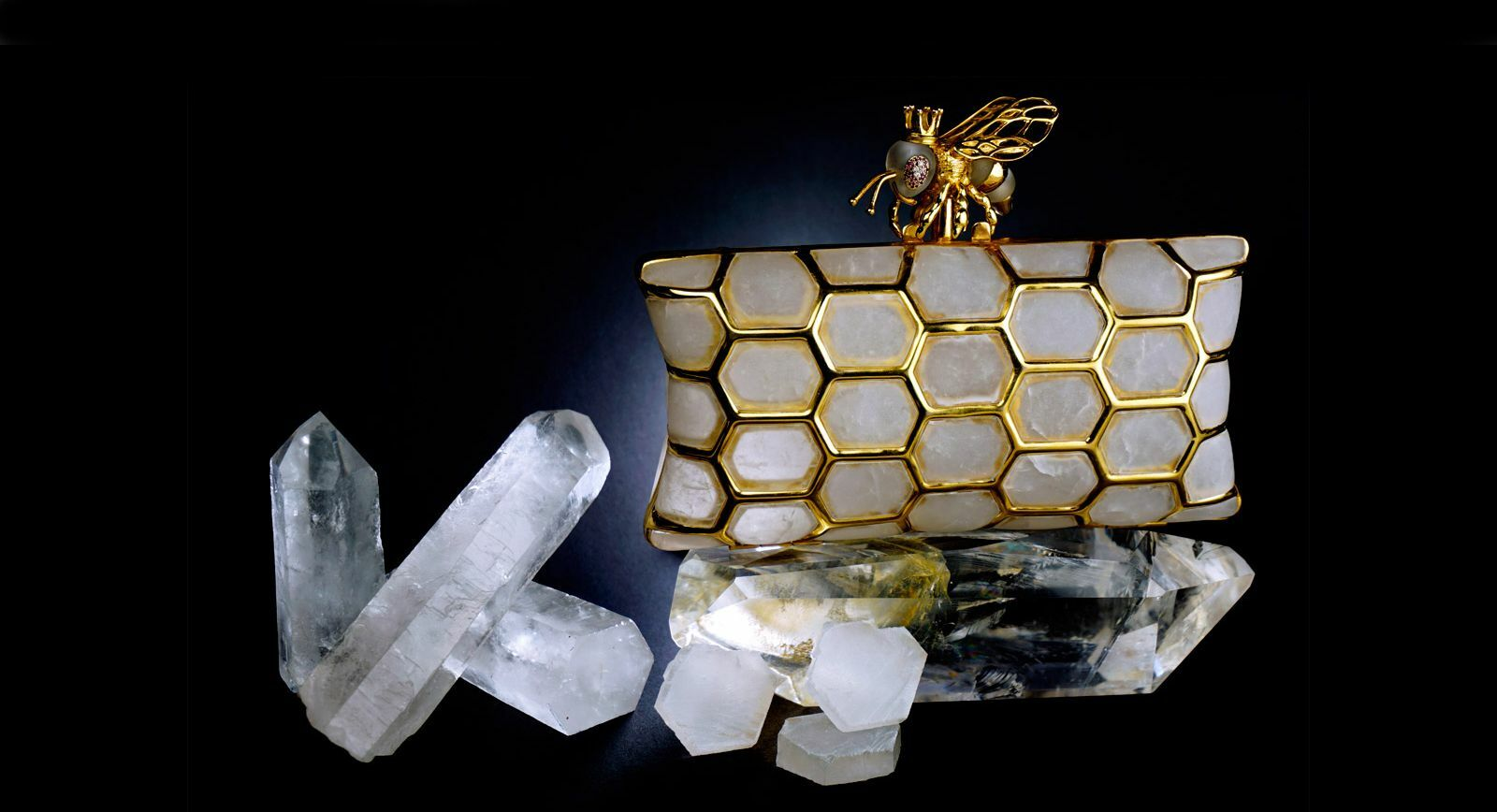 The Queen Bee Clutch by L'AQUART – the Unity of Fashion and Lapidary Art