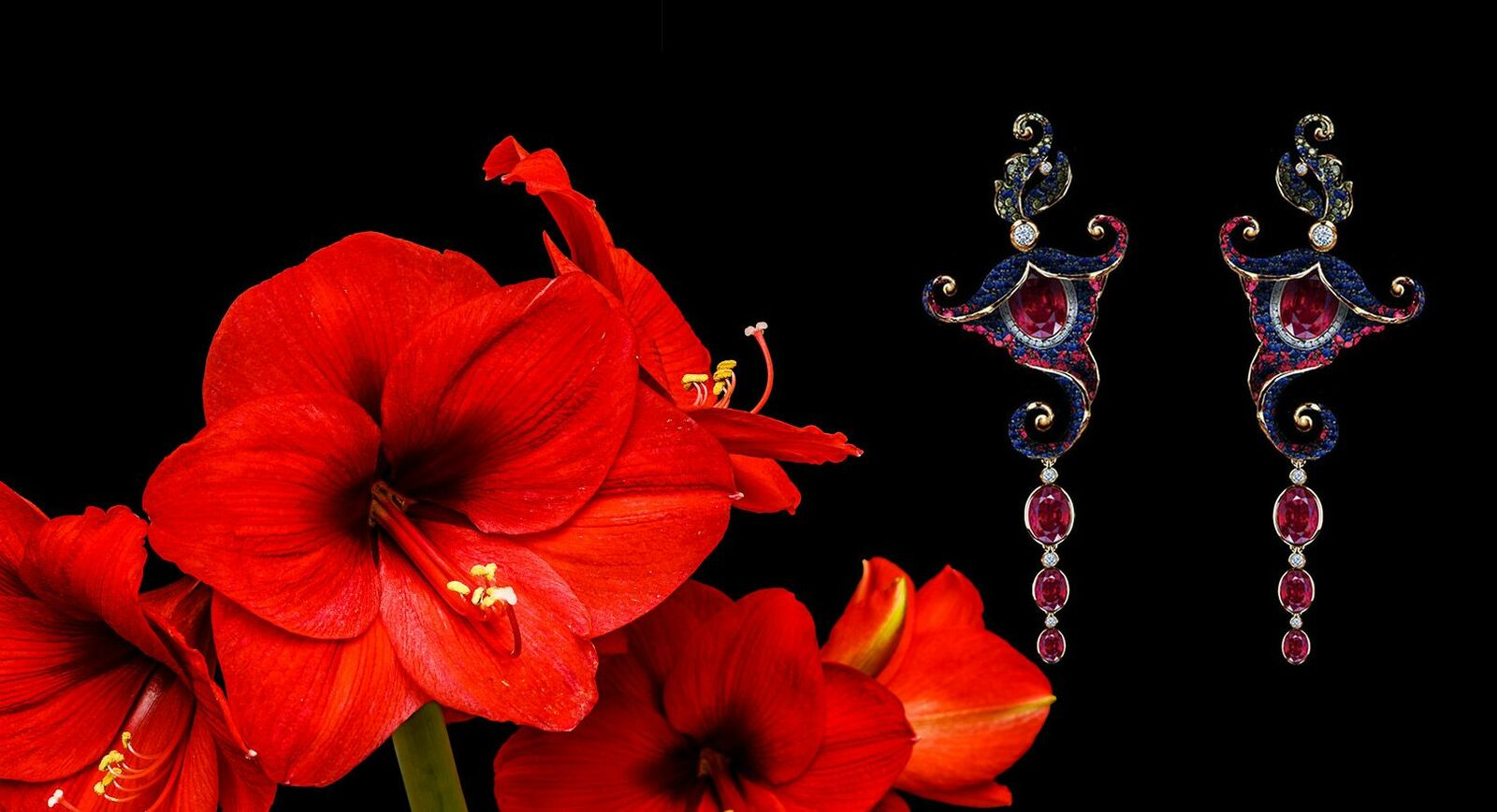 Jewellery Theatre Amaryllis Set – The Star Of The Flower Collection
