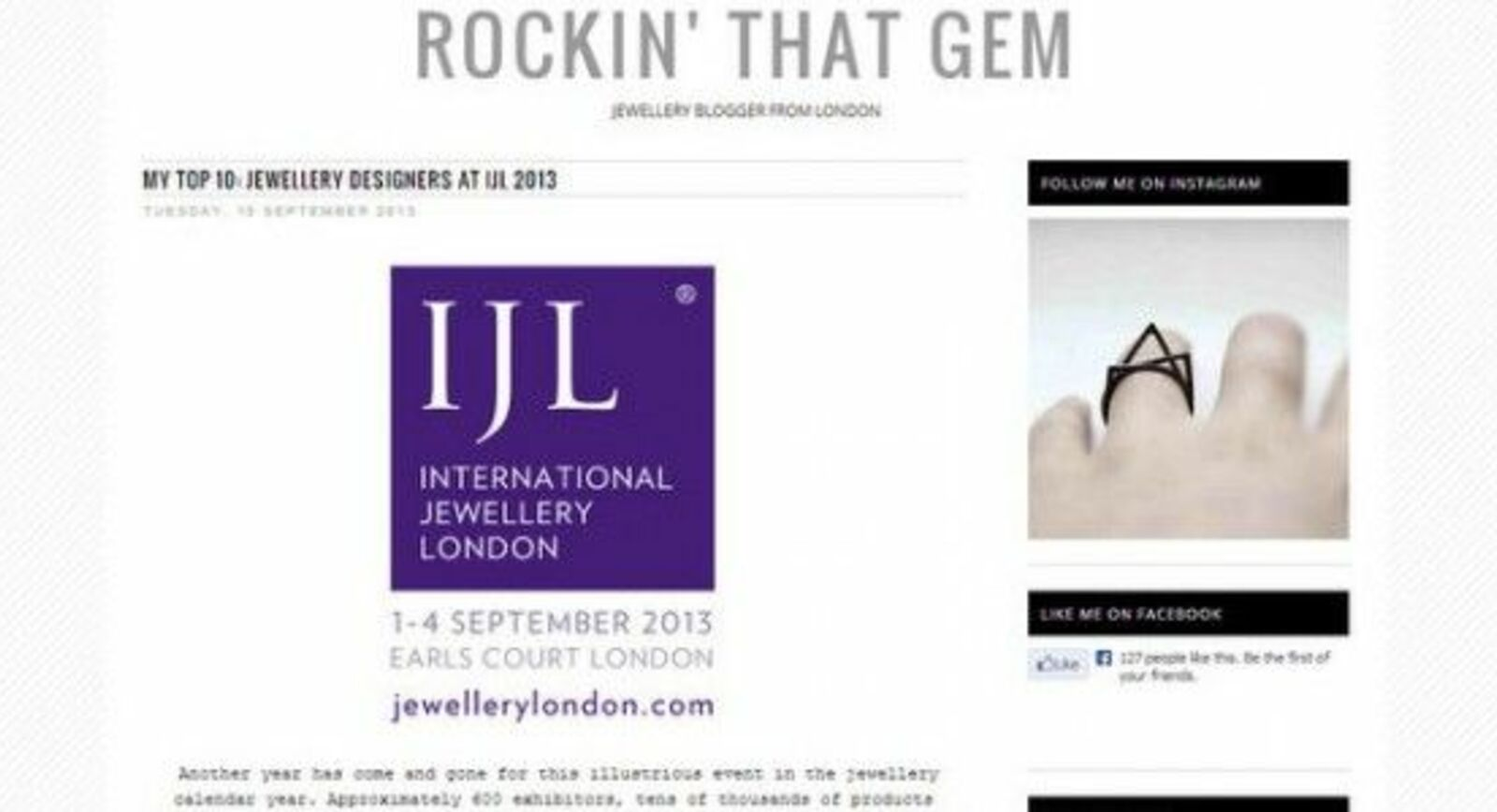 Rockin' That Gem: Top 10 Emerging Jewellery Designers at IJL2013