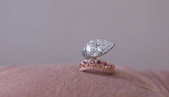 S1x1 calleija colourless and pink diamond ring