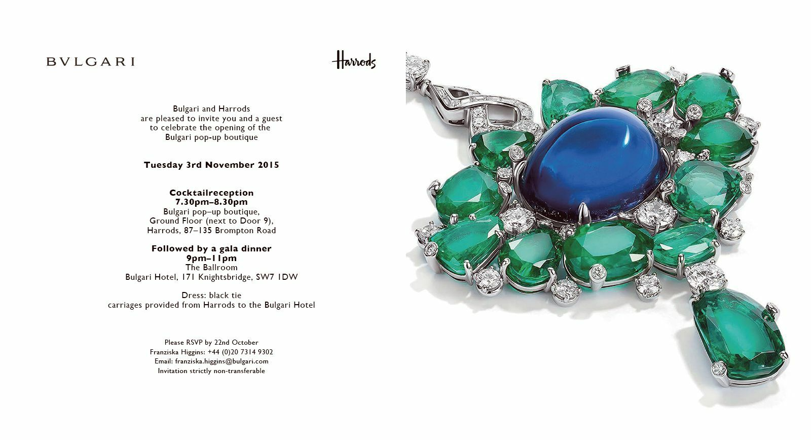 Discover Exclusive Bulgari Pieces at the Pop-Up Salon in Harrods