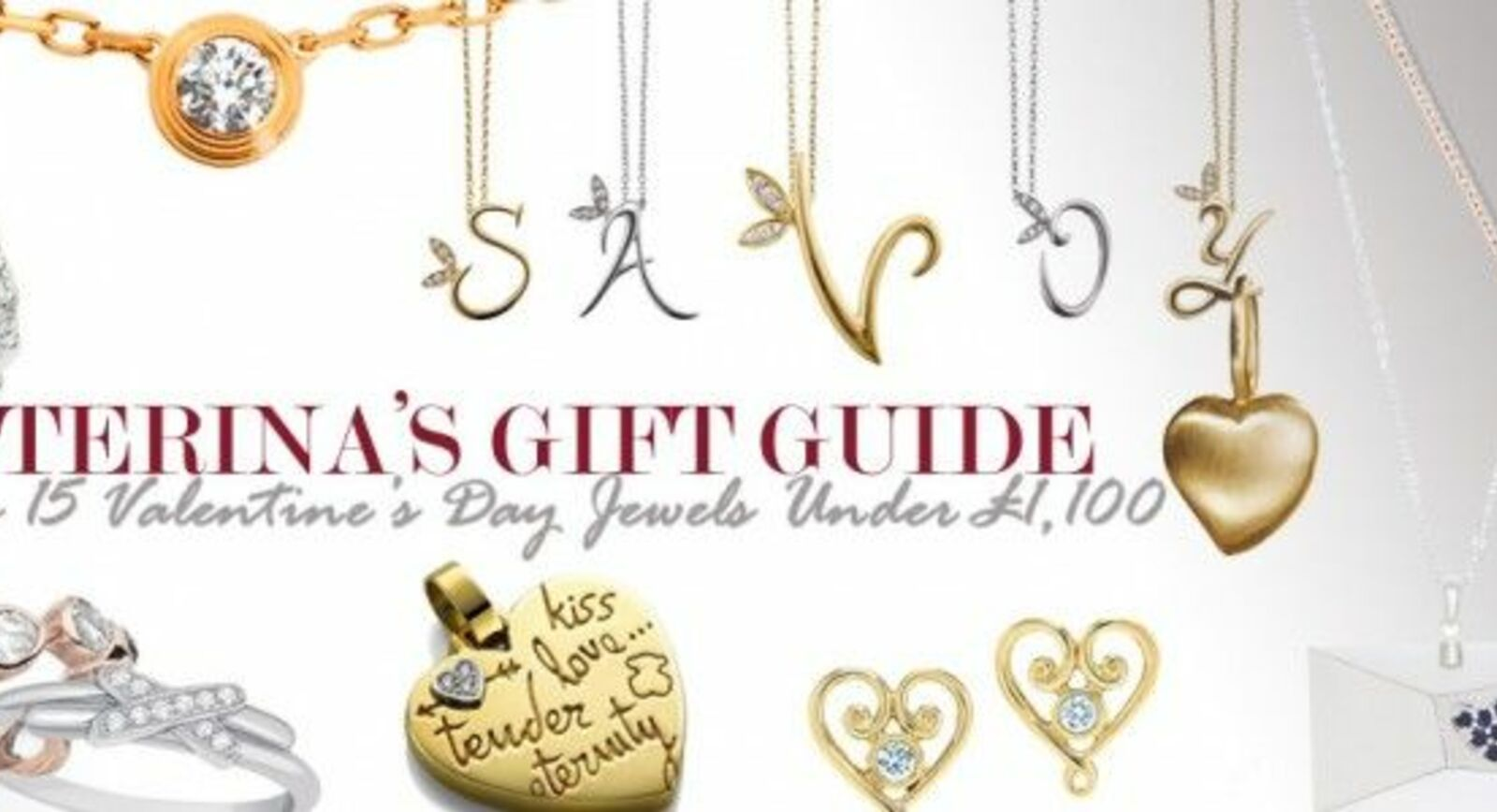 TOP 15 Valentine's Day Jewellery Under £1,100 To Buy Online