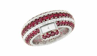 S1x1 van cleef  arpels ruby secret watch