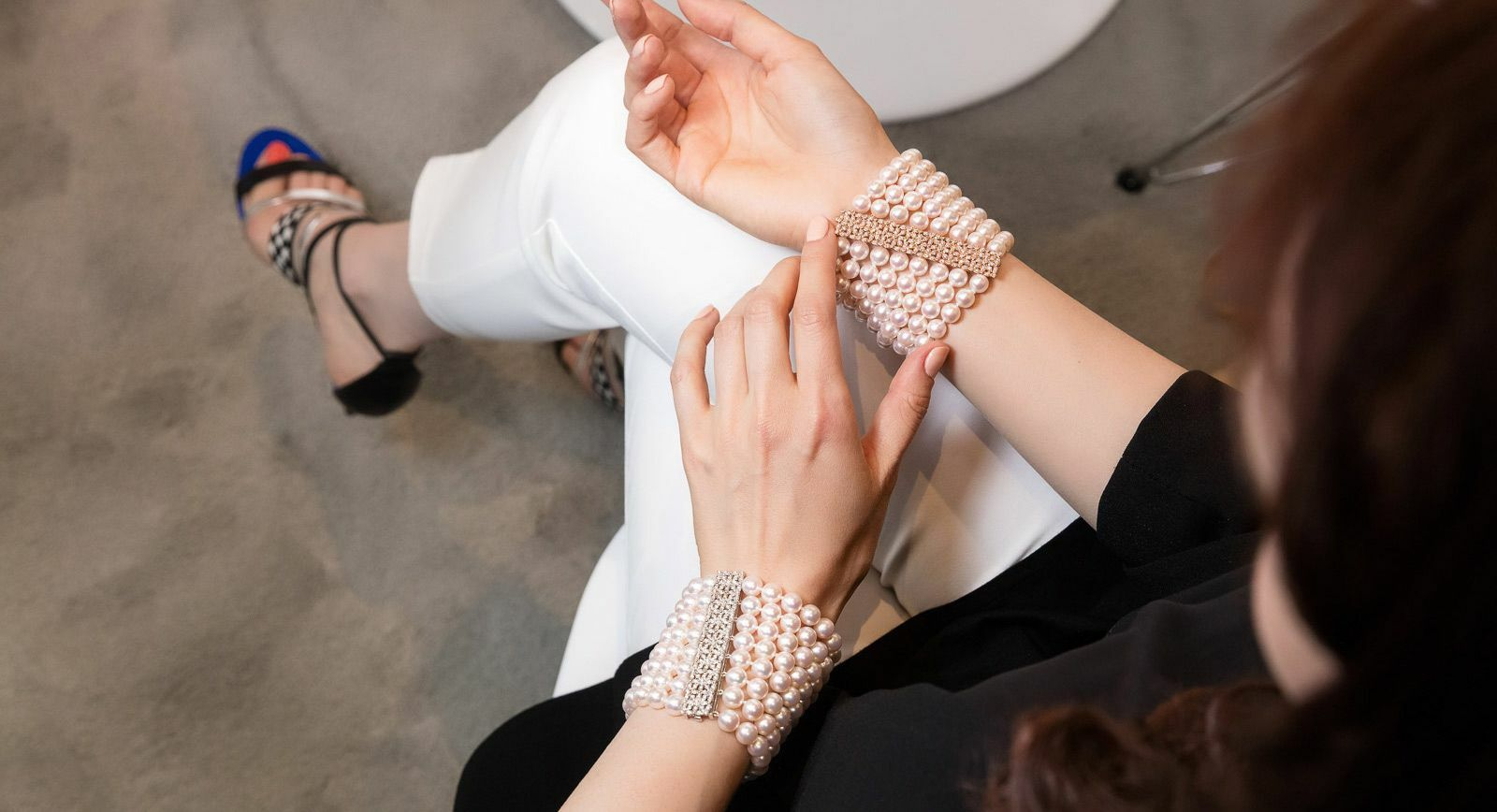 Assael South Sea pearls bracelets with diamonds