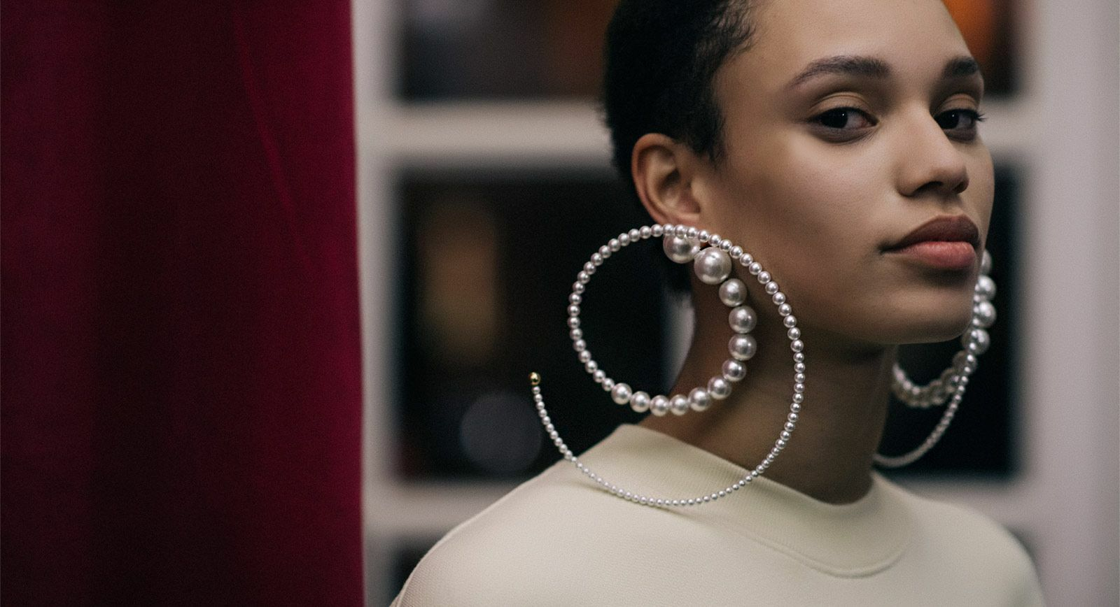 Y/Project pearl earrings Fall/Winter 2018