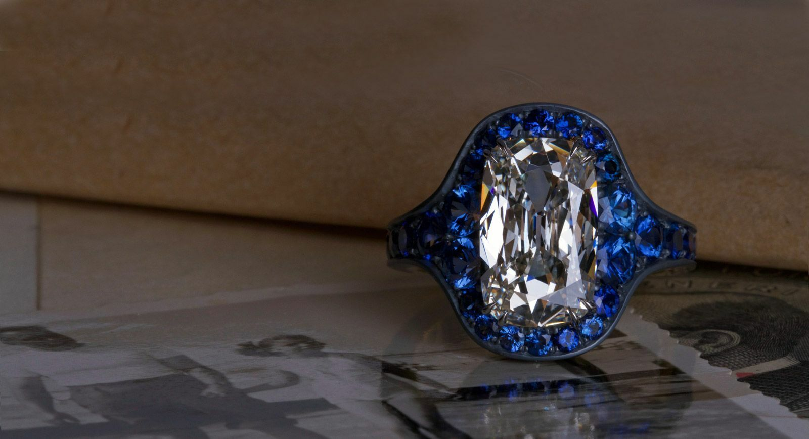 David Michael Jewels rings with sapphires ad diamond