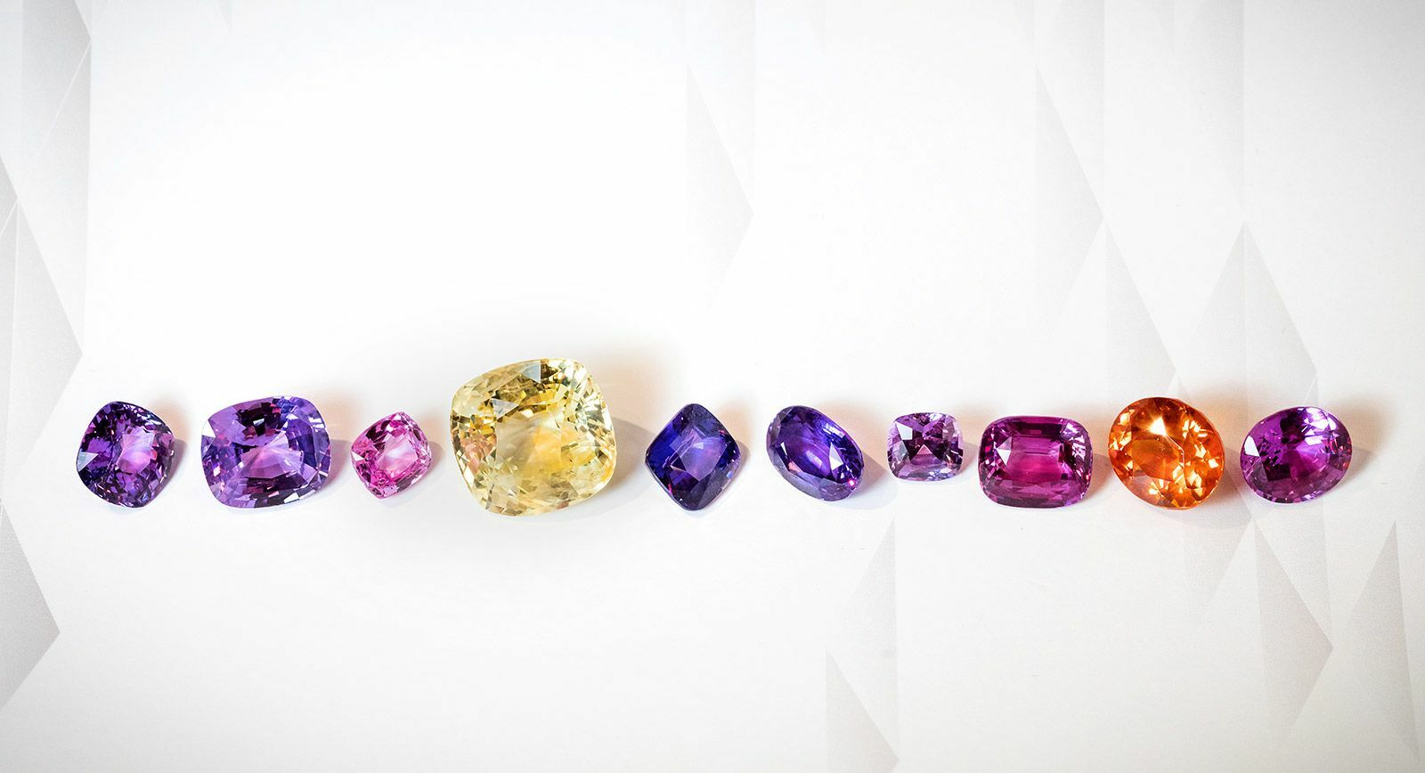 Fancy coloured sapphires from Constantin Wild