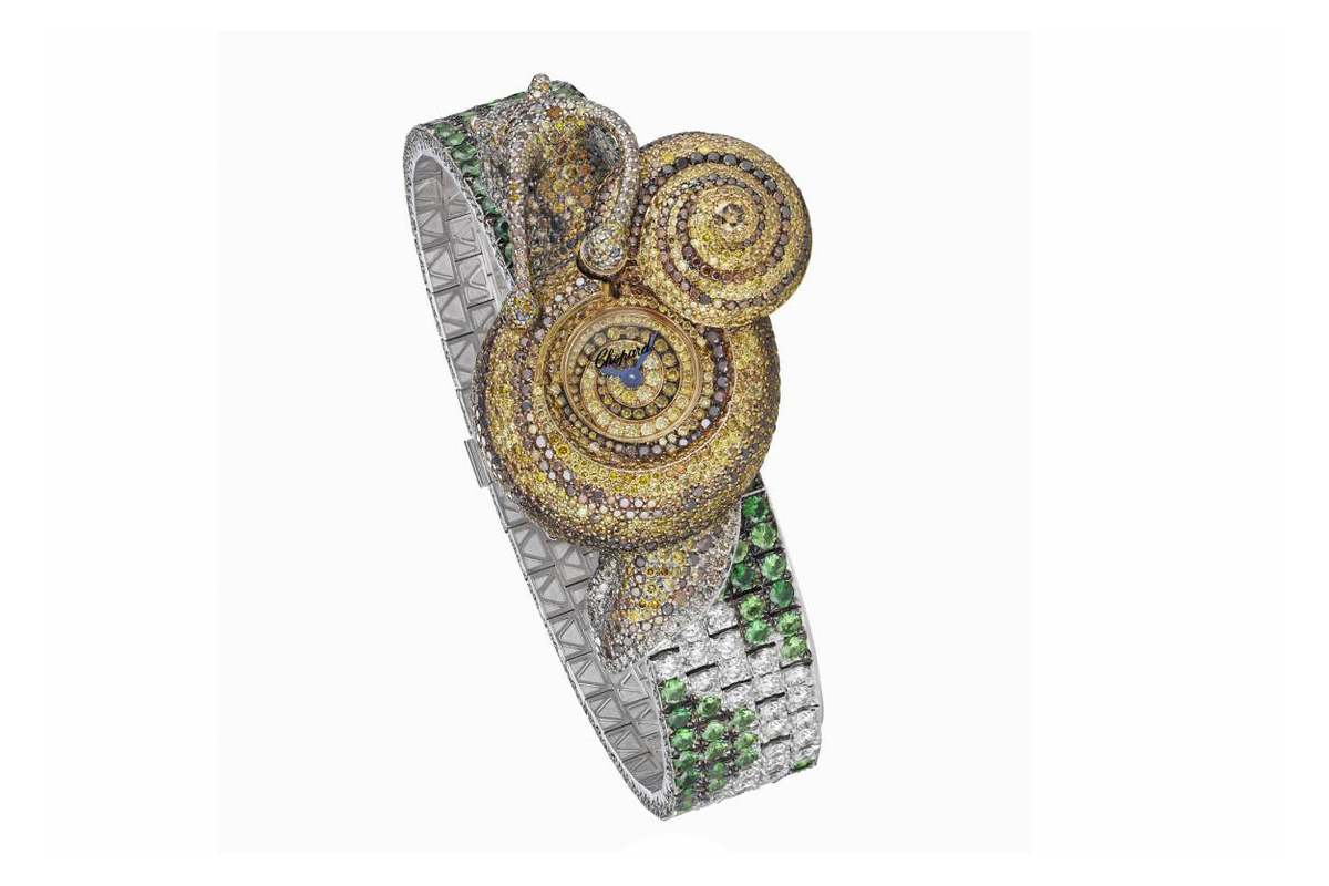 Chopard snail watch from the Animal World collection