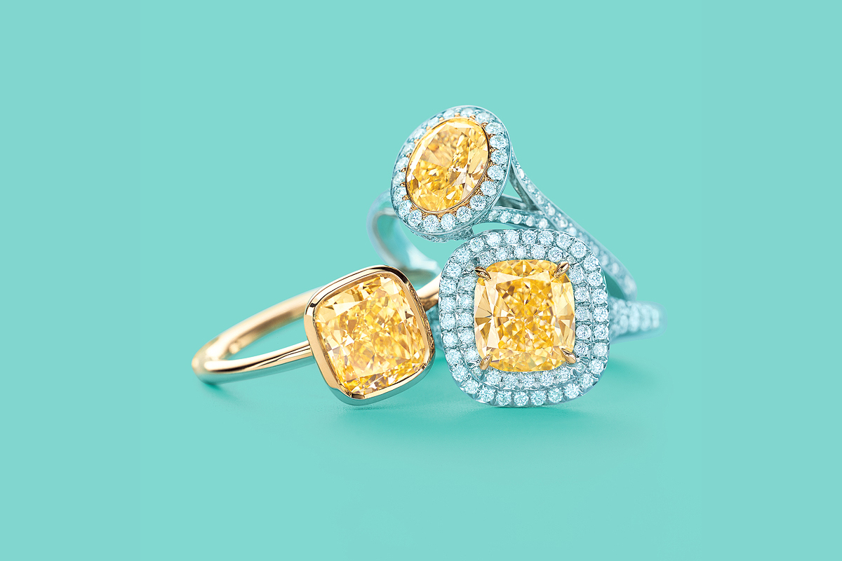 Tiffany & Co. yellow diamond rings