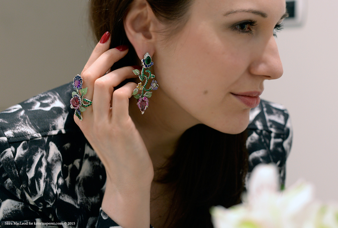 Fabergé Secret Garden earrings