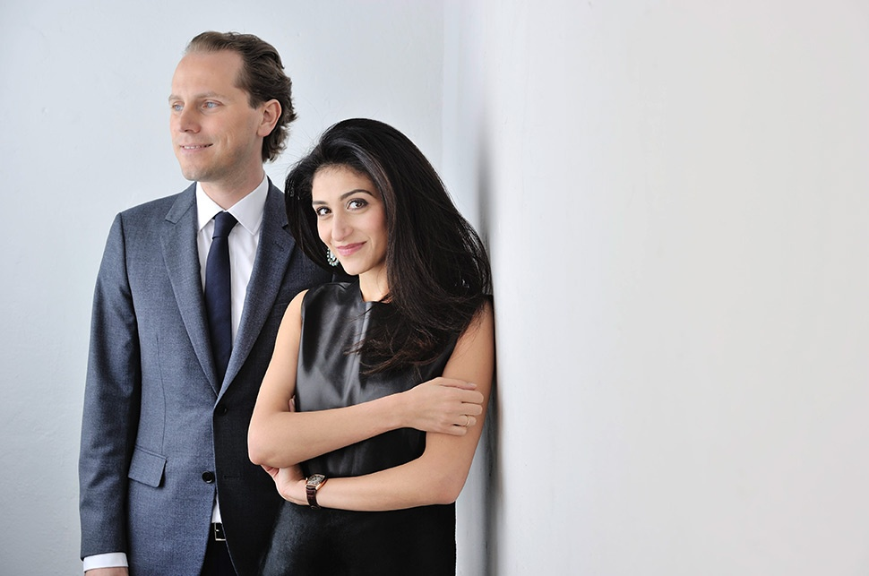 Christian Hemmerle and his wife Yasmin