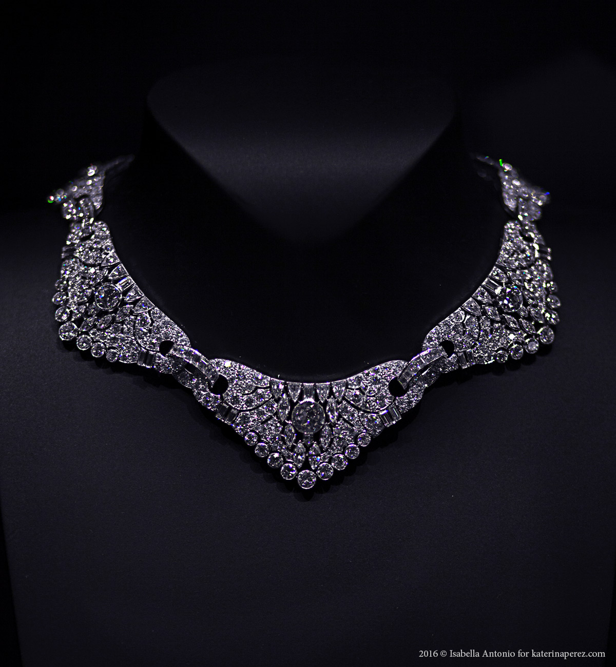 Art Deco necklace, 1928. Platinum, diamonds