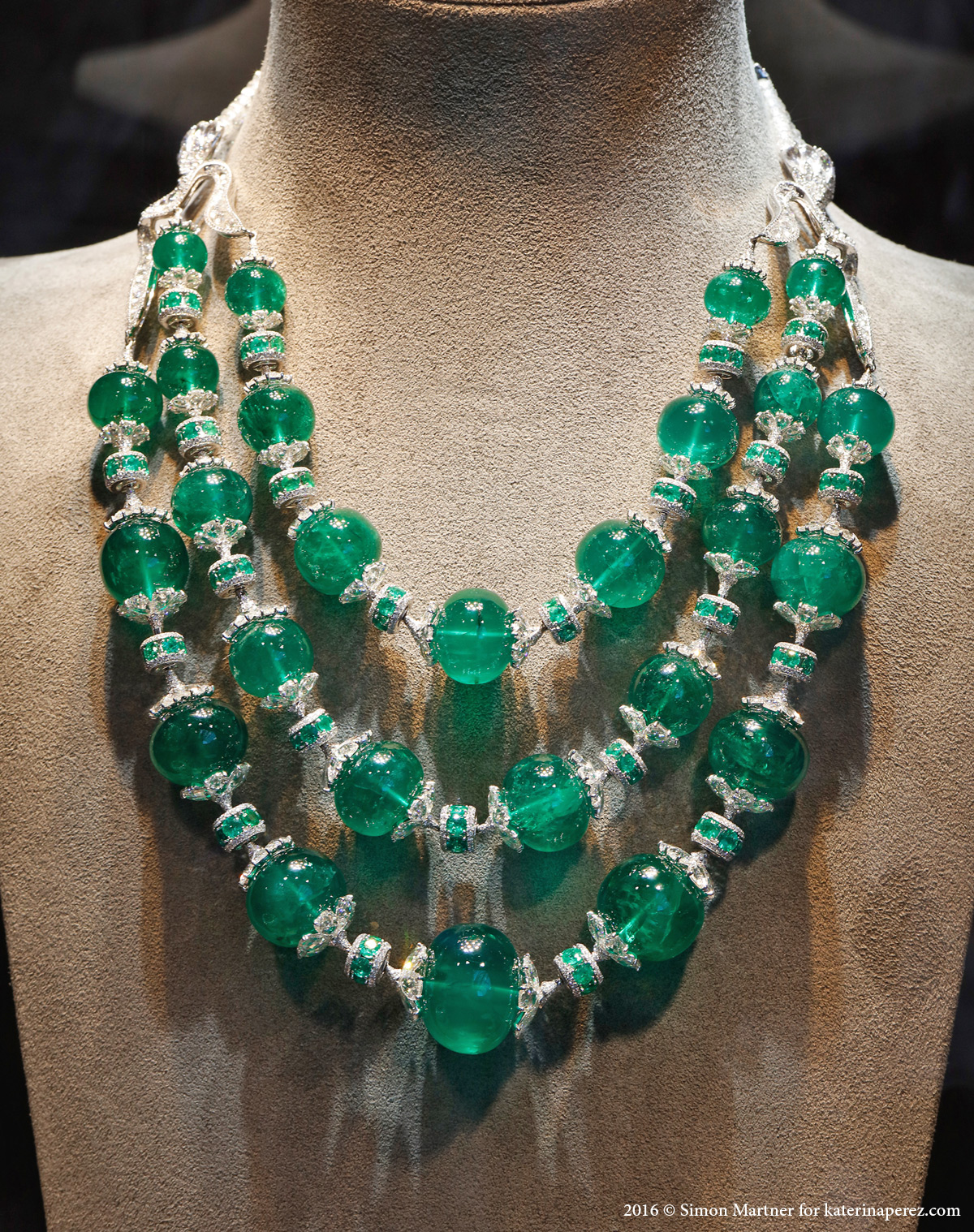 Nirav Modi Maharani emerald necklace with Colombian emeralds and diamonds