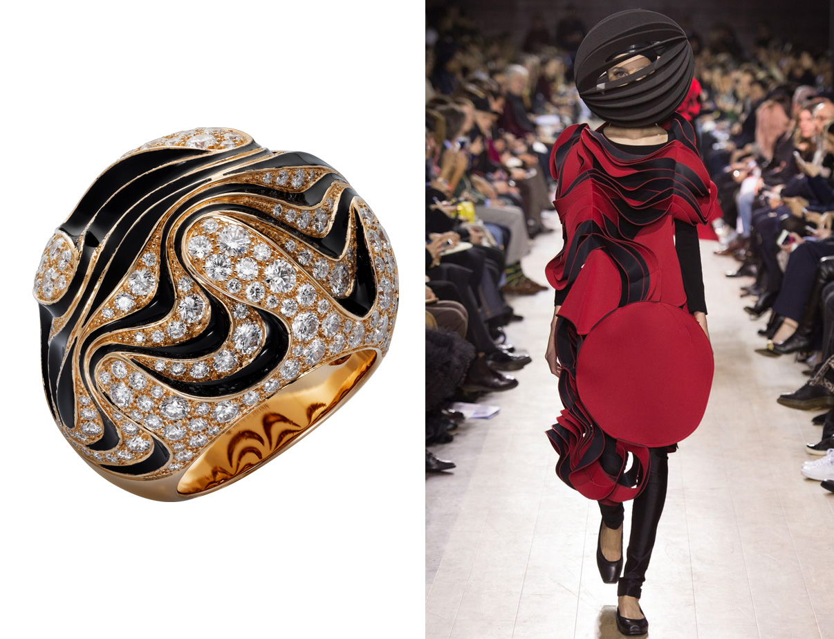 Кольцо Cartier Paris Nouvelle Vague и Junya Watanabe
