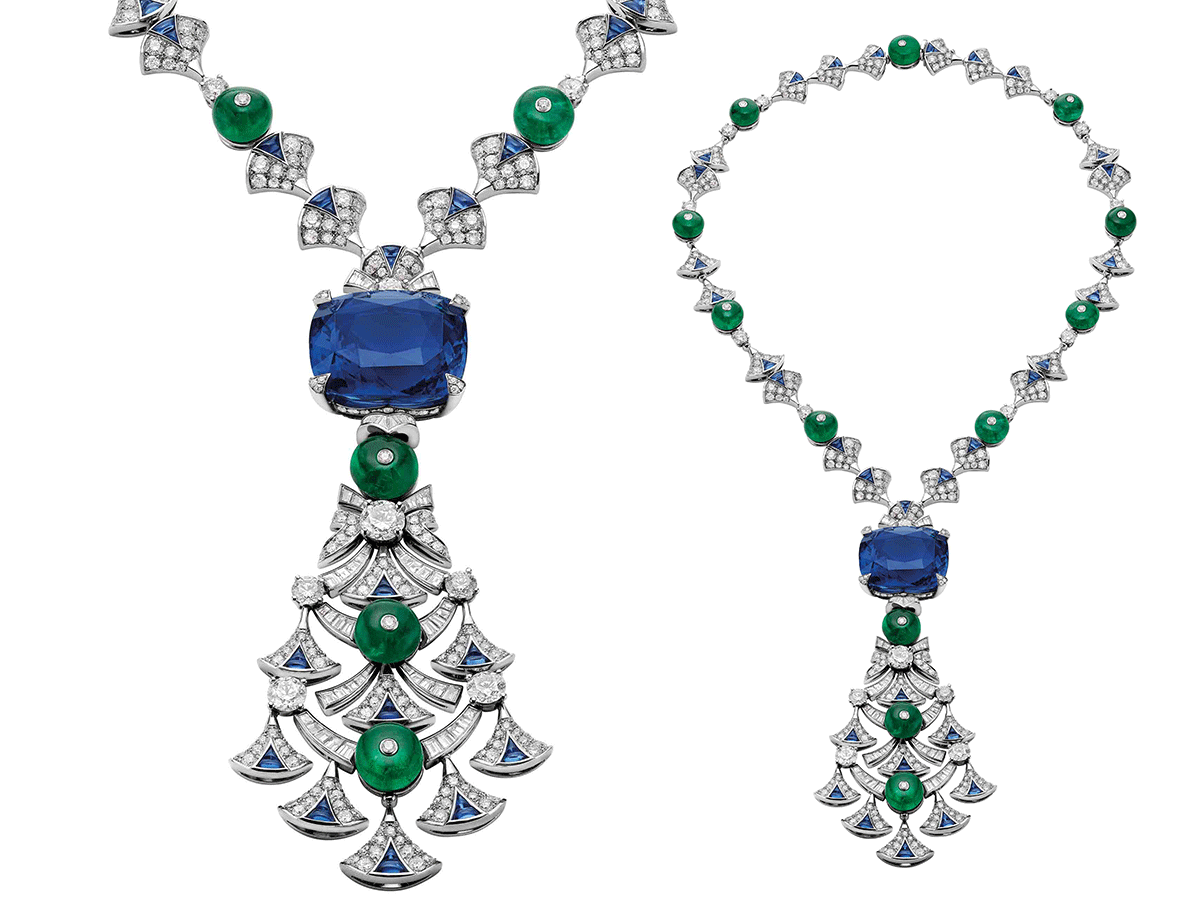 Italian Extravaganza necklace by Bvlgari featuring 45.15 cts. sapphire