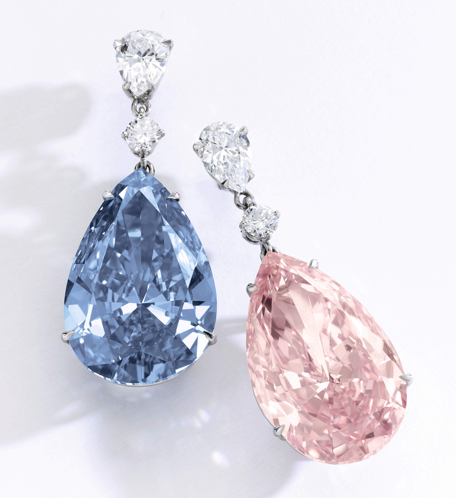 Apollo blue and Artemis pink diamonds on sale at Sotheby's