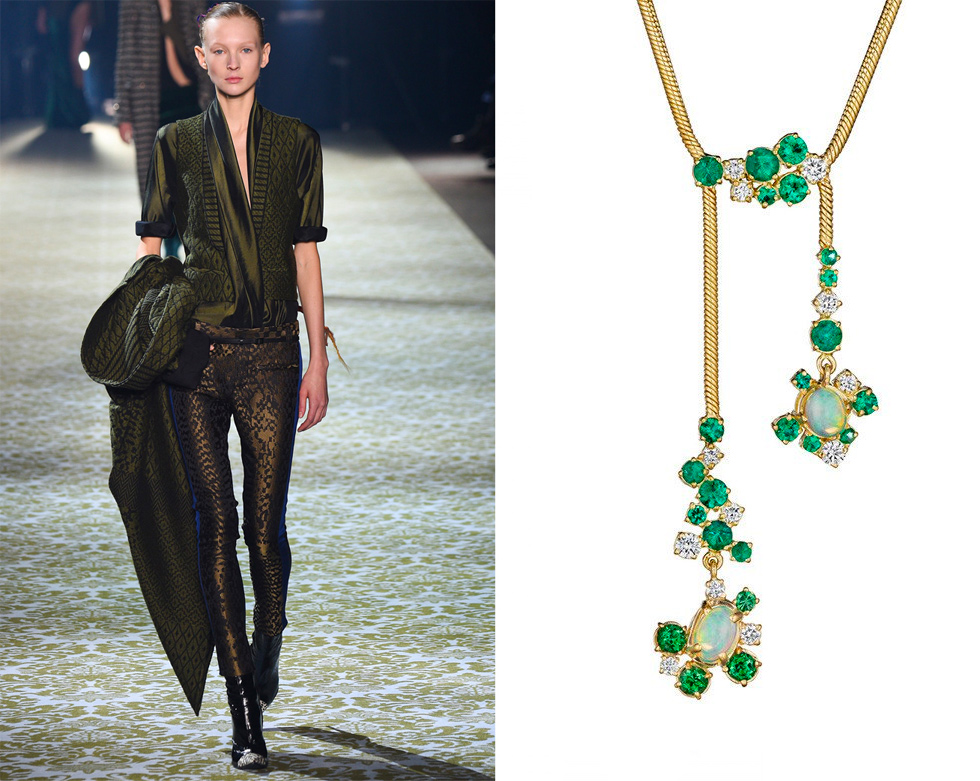 Haider Ackermann и Madstone Design Melting, колье Ice – £6,850