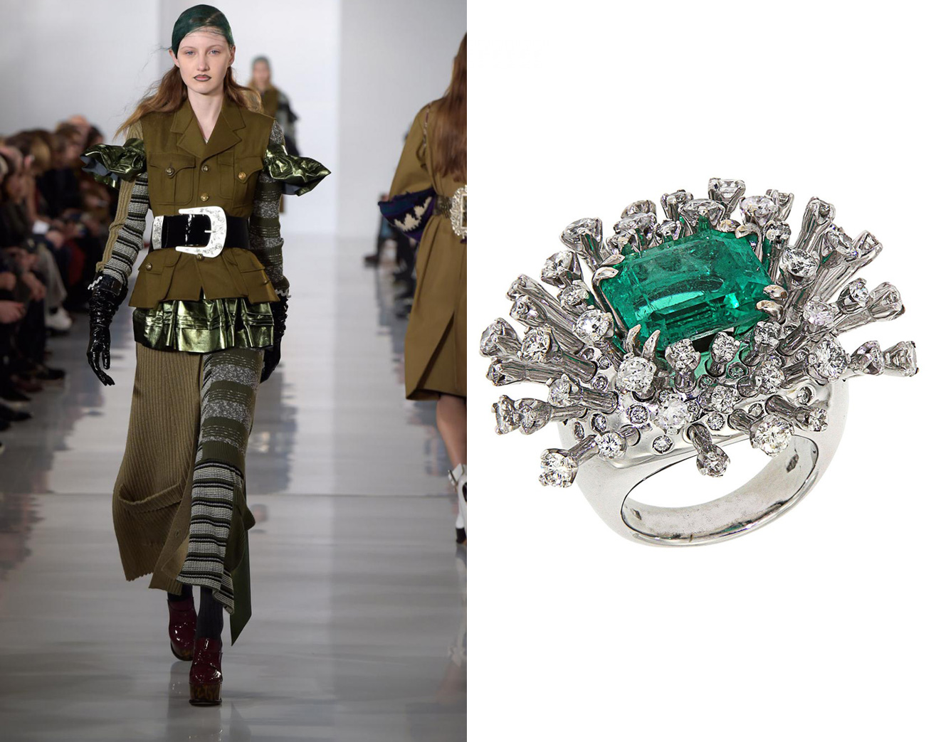 Maison Marginal and Colombian Emerald Ring by Botta Gioielli £56,870