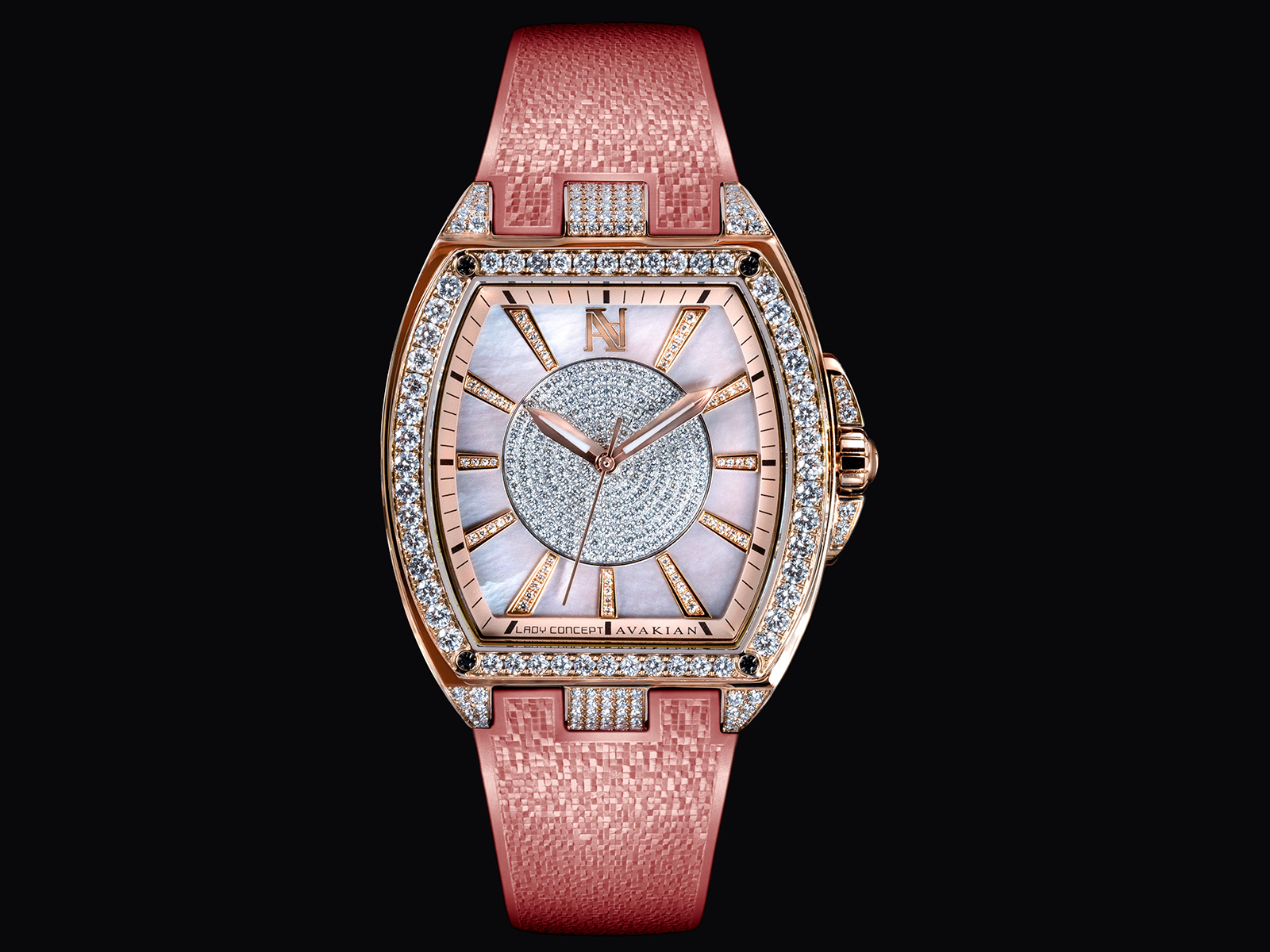 Avakian's new Lady Concept watch with diamonds