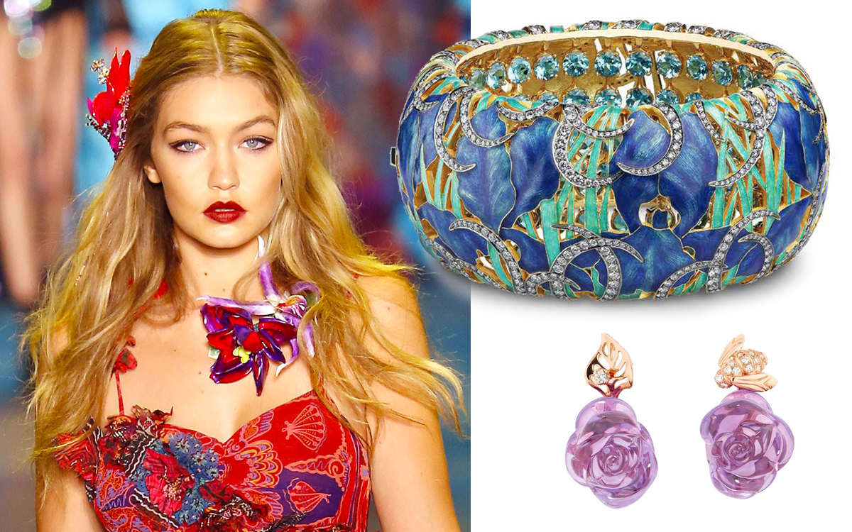 Anna Sui catwalk, Ilgiz F. bracelet, Dior earrings