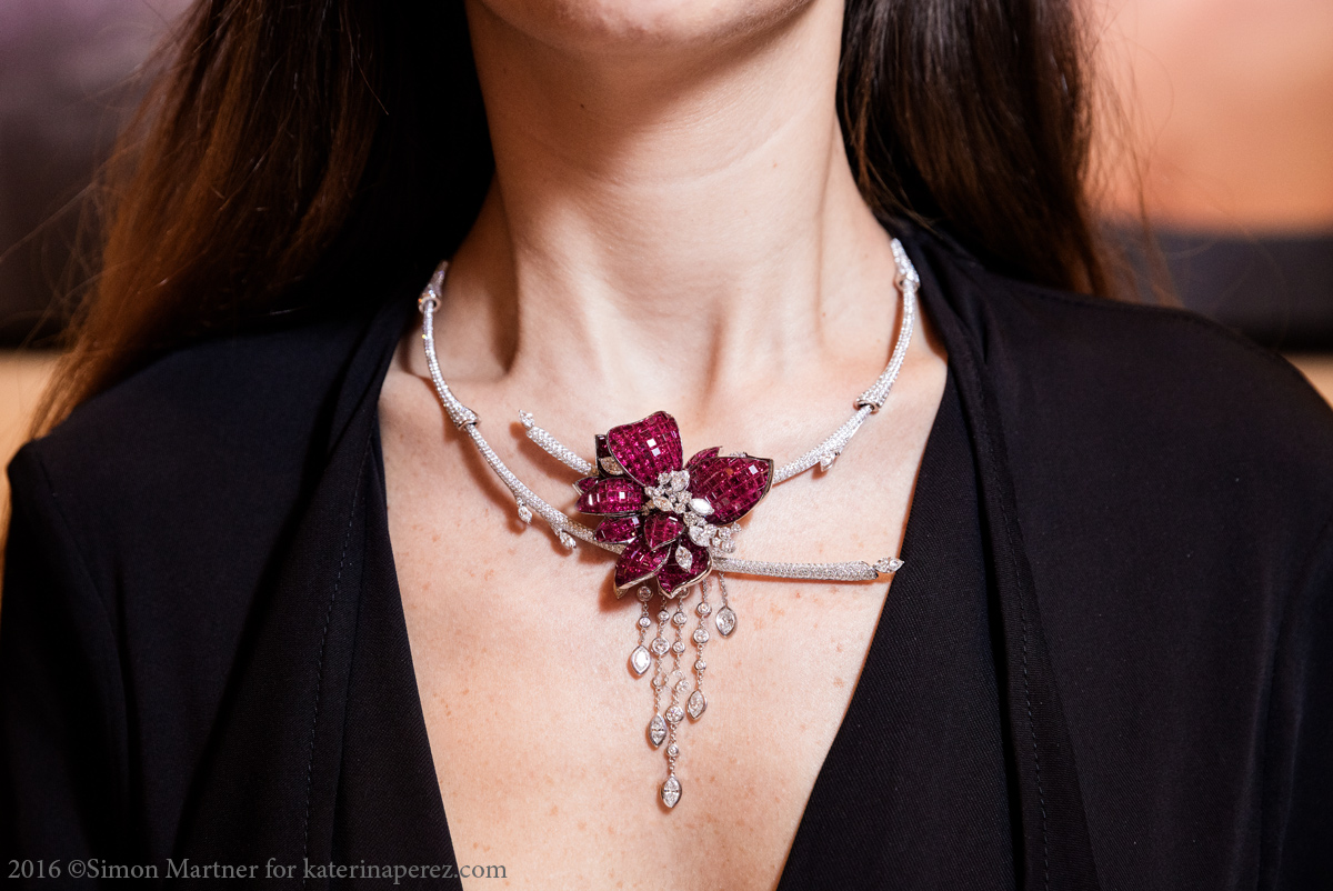 Stenzhorn necklace from The Noble Ones Collection with rubies and diamonds