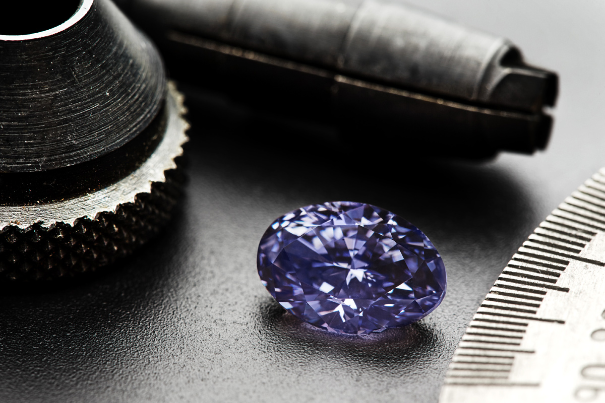 The Argyle 'Violet' 2.83cts, oval Fancy Deep Greyish Bluish Violet diamond