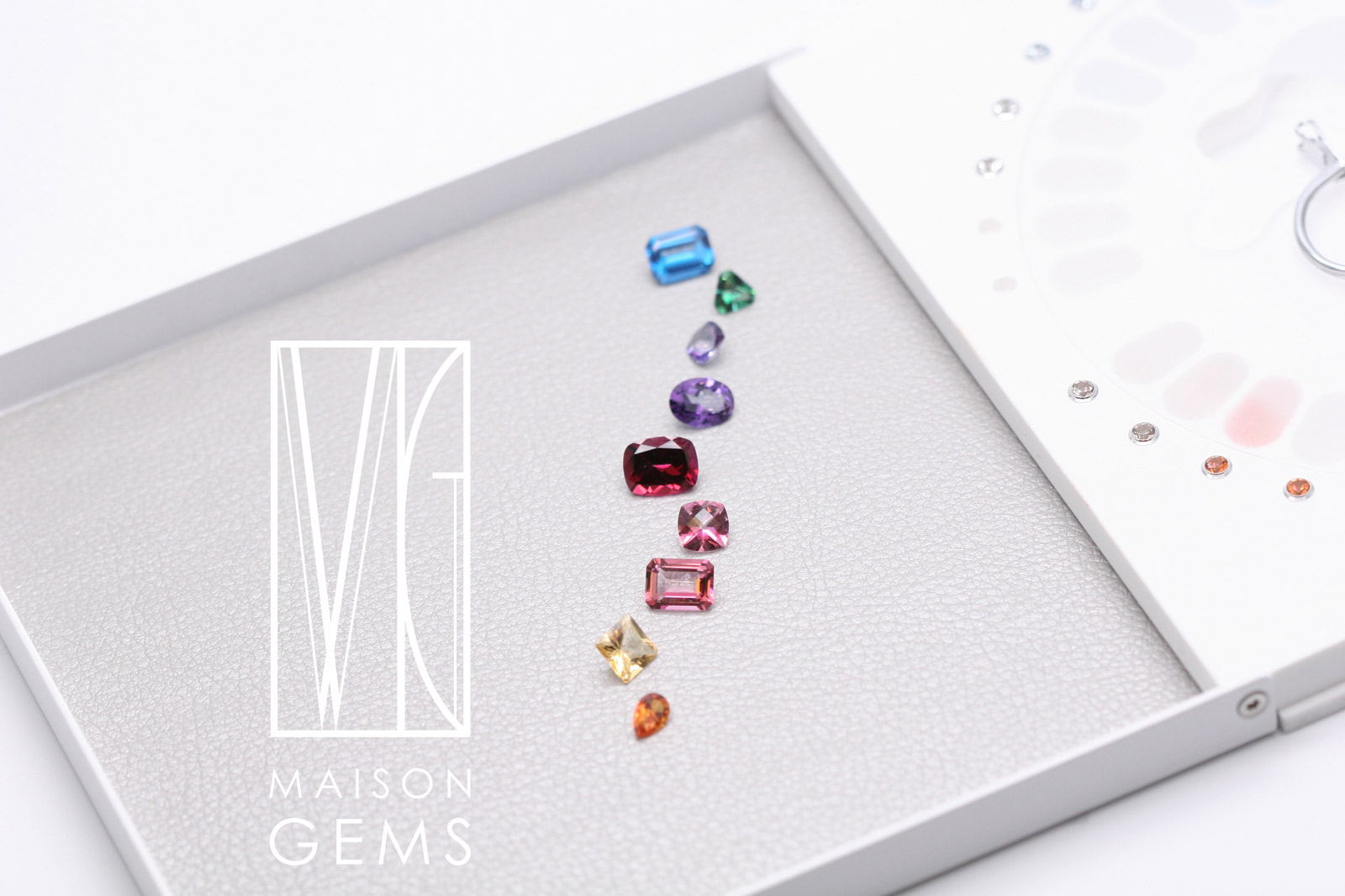 Maison Gems Swarovski Topaz of various colours