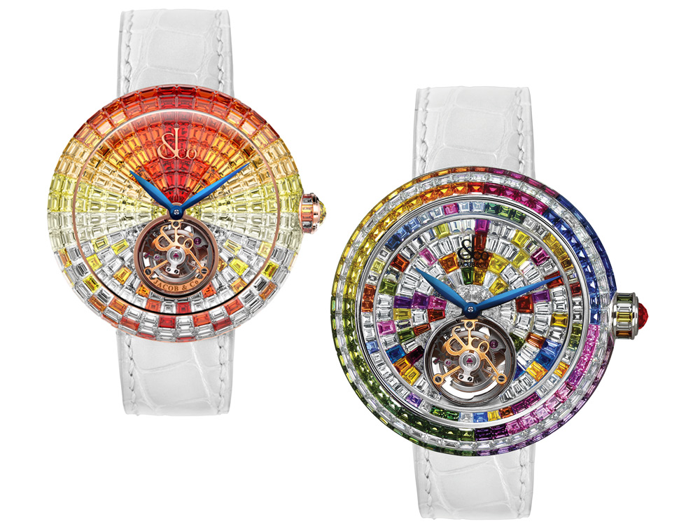 Arlequino multi-gem watches by Jacob&Co