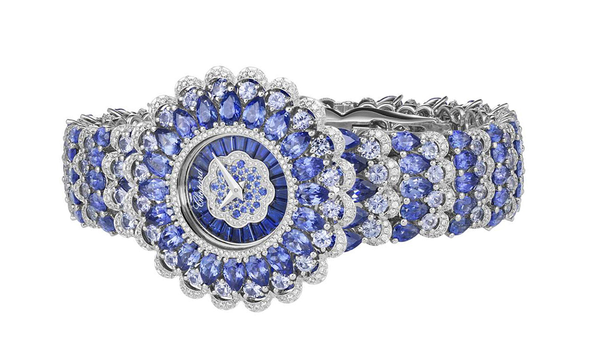 Precious Chopard watch by Chopard with sapphires and diamonds