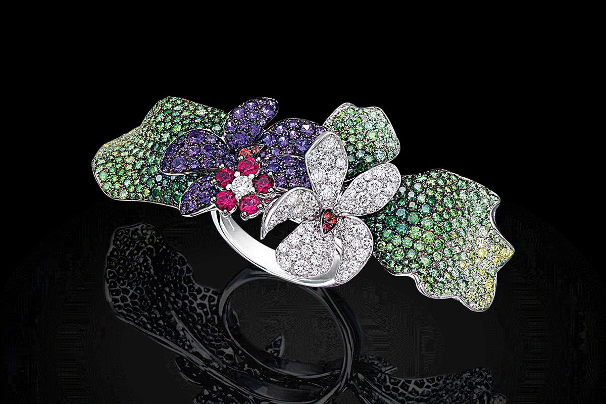 Palmiero Gardens of Emotions Floral Treasures ring