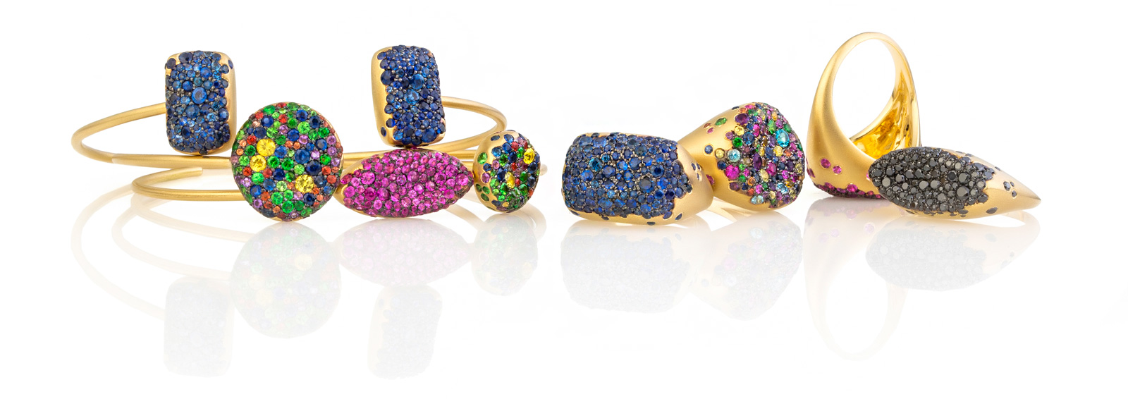 Nada G Malak collection rings and bracelets