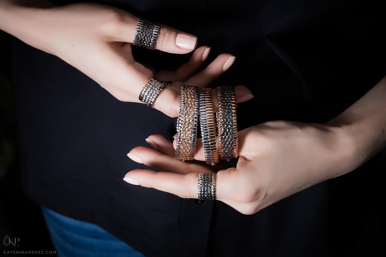 Just Revolution Skin bracelets and rings by Julien Ryad Sahyoun. Photo by Simon Martner