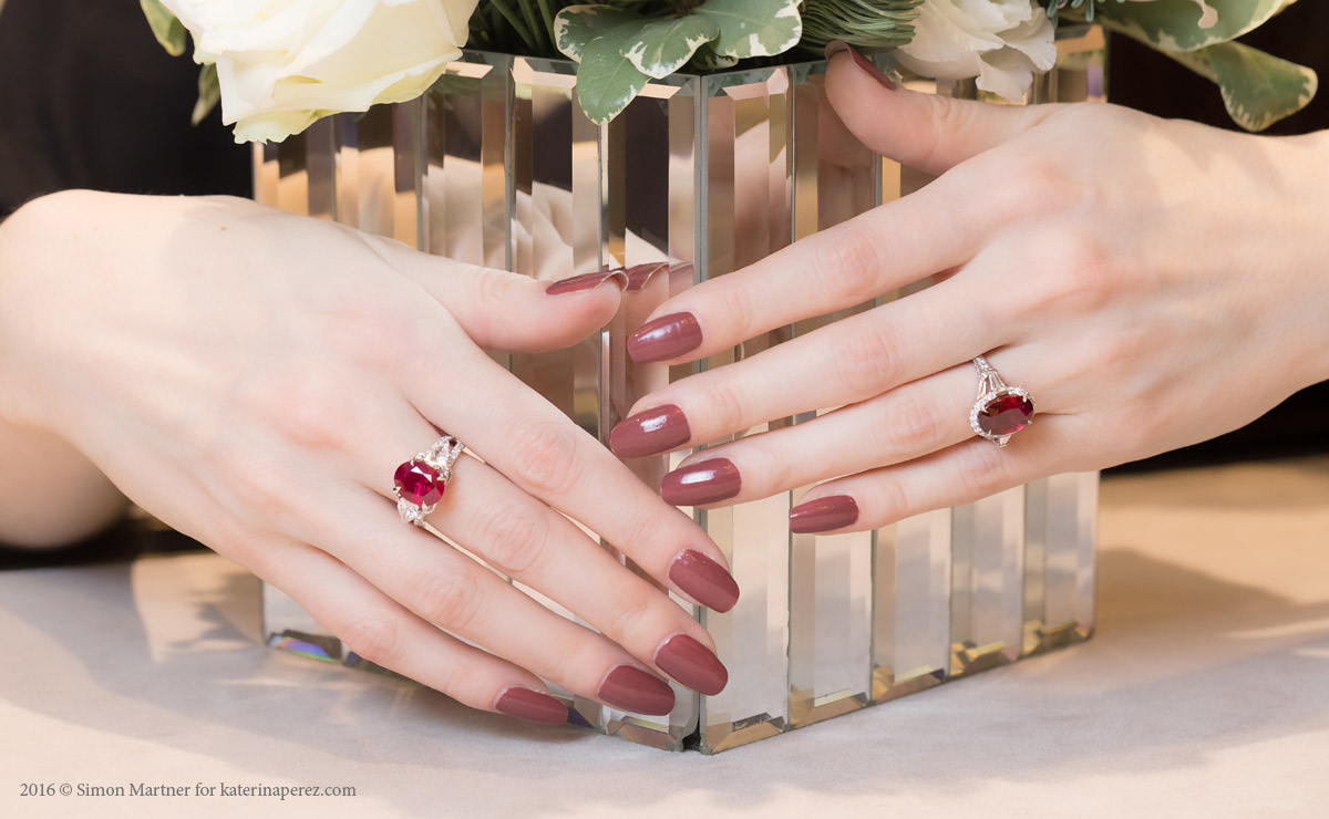 Fabergé Devotion collection rings with rubies