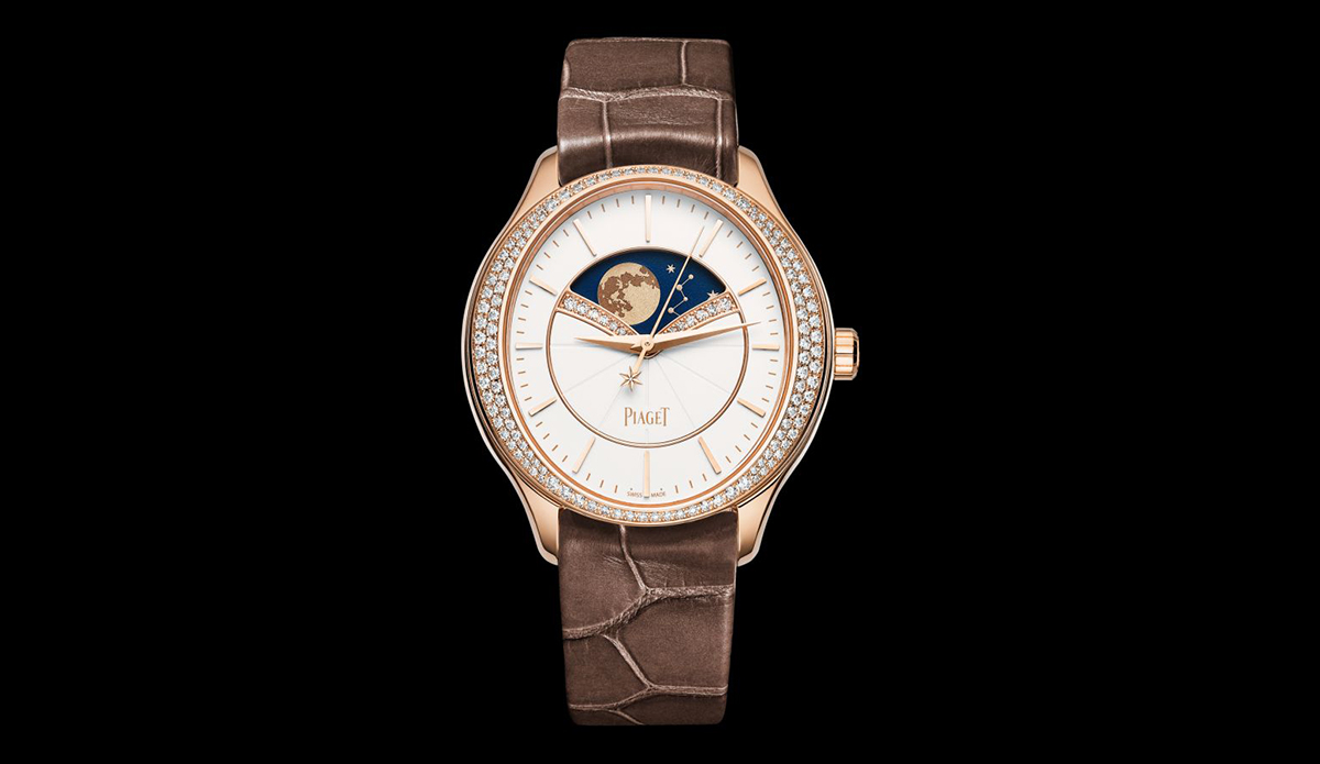 Piaget Limelight watches in white and rose gold with diamonds