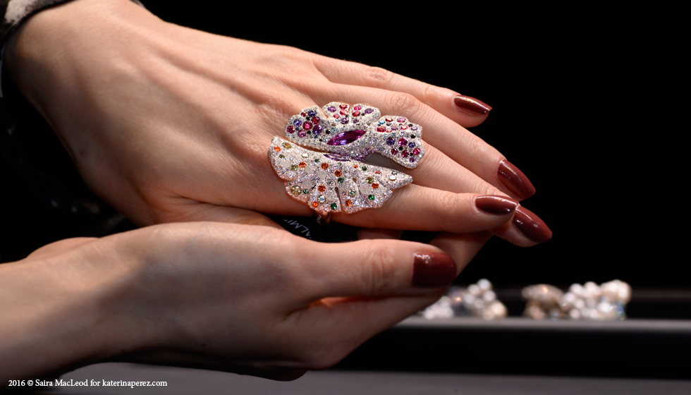 Palmiero diamonds and coloured gemstone encrusted rings
