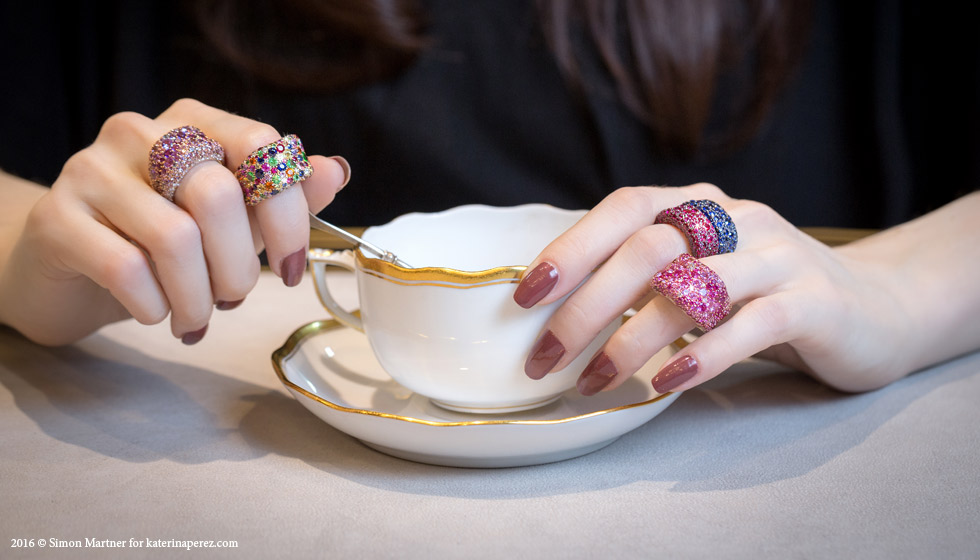 Faberge Emotion collection rings