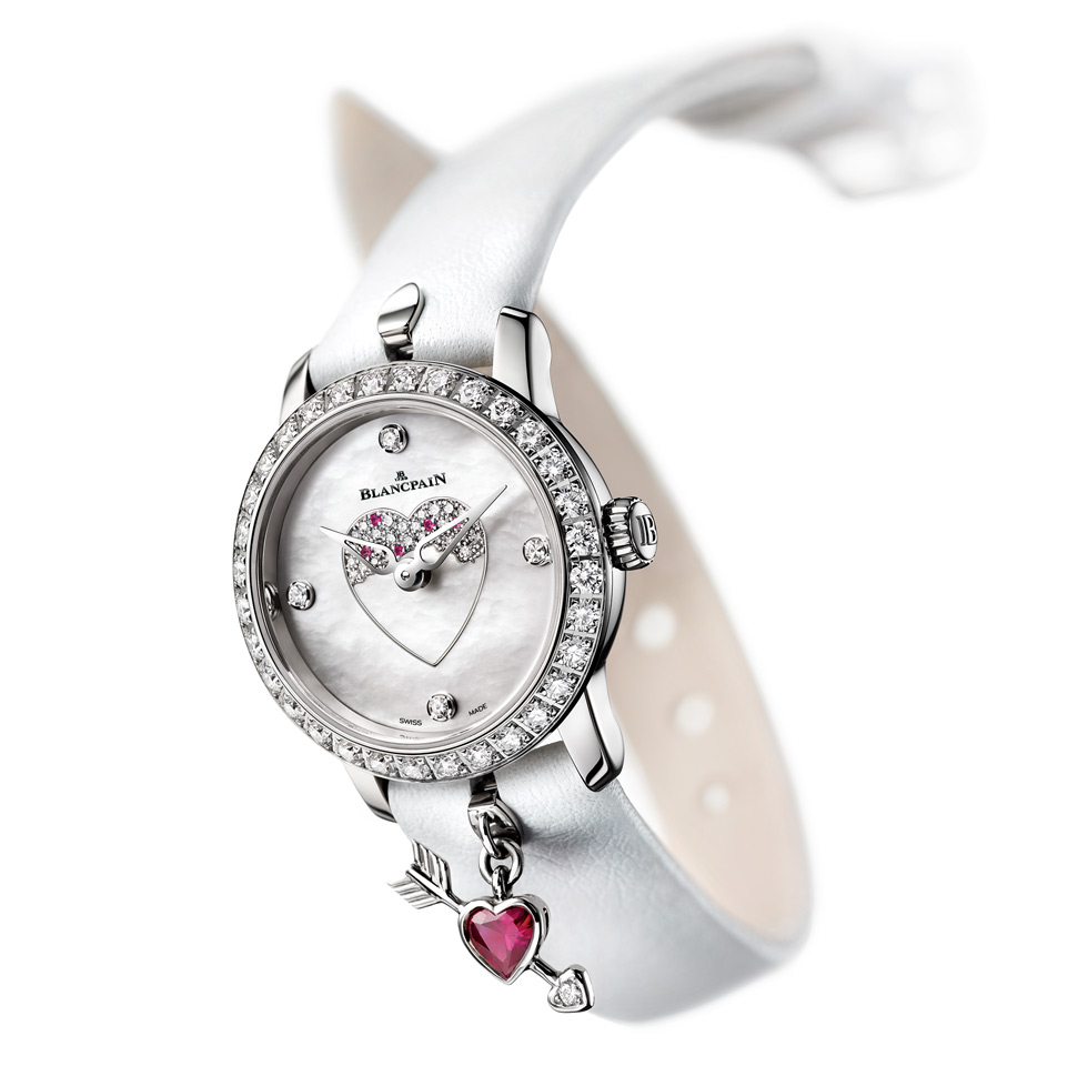 Blancpain Ladybird watch in white gold, diamonds, mother of pearl and rubies
