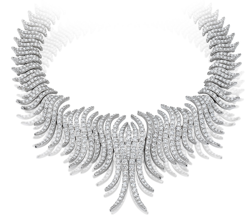 Firework diamond necklace by Picchiotti